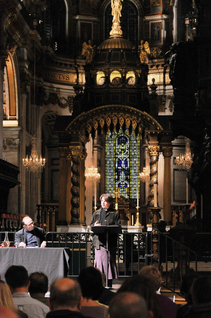 The Revd Lucy Winkett speaking at St Paul's © St Paul's Forum